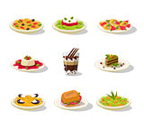 Italian Food Illustration Set