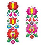 Kalocsai embroidery - Hungarian floral folk art long patterns