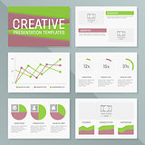 Vector business presentation template slides background design