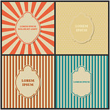 Set of backgrounds with frame, vector illustration.