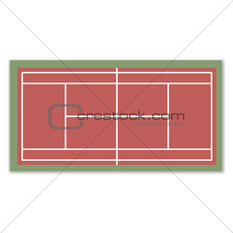 A field for Tennis, vector illustration.
