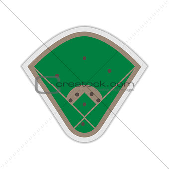A field for Baseball, vector illustration.
