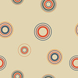 Seamless background from circles, vector illustration.