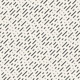Vector Seamless Black and White Diagonal Dashed Lines Rain Pattern