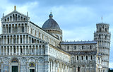 Pisa Cathedral with the Leaning Tower of Pisa (Italy).