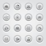 Button Design Business Icons Set.