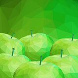 Apple Low Poly Background