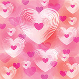 Many different size heart colorful background.