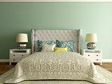 modern elegant bedroom interior