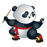 Martial art panda