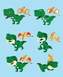 Two cute little dinosaurs