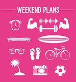 Weekend plans.