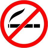 No smoking, cigarette prohibited symbol. Vector.