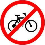 No bicycle sign Vector illustration. Flat design.