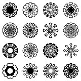 Geometric round ornaments collection
