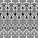 Black vector ethnic seamless pattern
