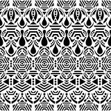 Black vector ethnic seamless pattern