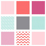 Vector seamless wavy line patterns