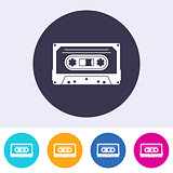Vector audio cassette icon