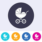 Vector baby carriage icon