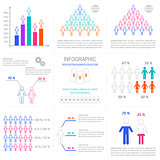Vector infographic people icons collection