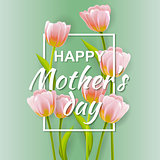 Happy Mother's Typographical Background
