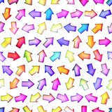 Seamless texture of abstract bright shiny colorful arrows,