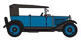 Vintage blue cabriolet