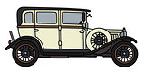 Vintage black and cream limousine