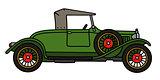 Vintage green roadster