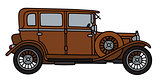 Vintage brown limousine