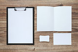 Corporate identity template set. Business stationery mock-up.