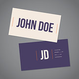 Simplistic flat business card with curly brackets