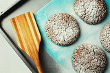 Cookies with Sesame on Baking Tray