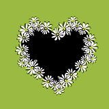 Daisy floral heart for your design