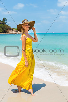 Beautiful lady on the beach