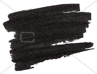 Black marker paint texture