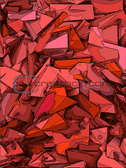 abstract  chaotic background in pink and red