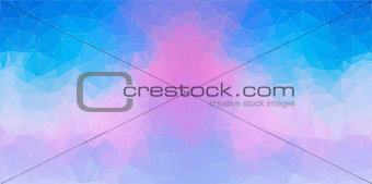 Blue and Pink abstract polygonal background