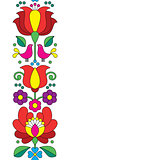 Seamless Kalocsai embroidery - Hungarian floral folk art pattern