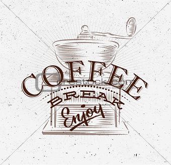 Poster coffee break brown