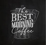 Poster best morning coffee