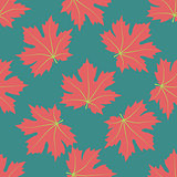 The symmetric background. Red leaves