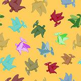 Cartoon flying dinosaur