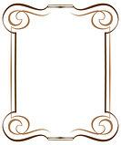Vintage multilayer vertical vector frame