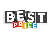 Best Price Sign Template Vector Illustration