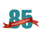 Eighty Five 85 Years Anniversary Label Sign for your Date