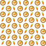 Sweet Cakes with Carrot Seamless Pattern Background Vector Illus