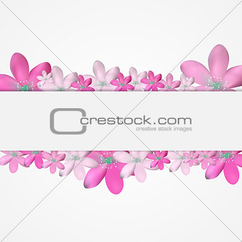 Abstract Simple Flower Pattern Background