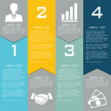 Template with elements for business presentations.